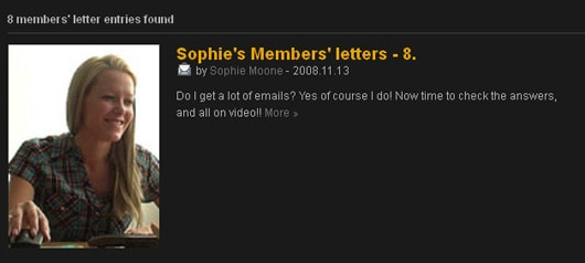 Members'letters(Sophie Mooneからのメッセージ)