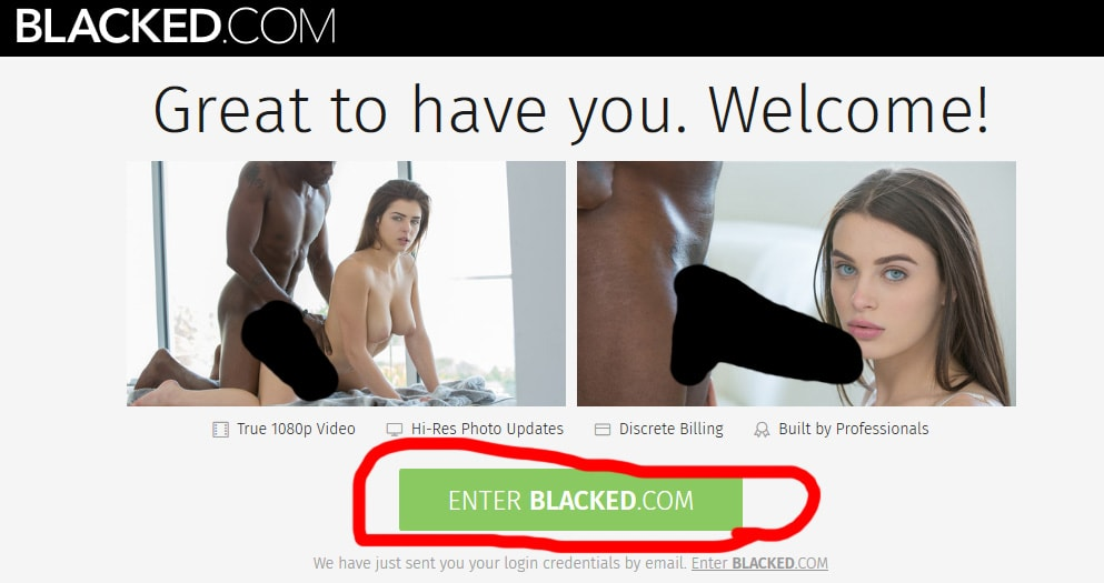 BLACKED.COM - ウエルカムメッセージ