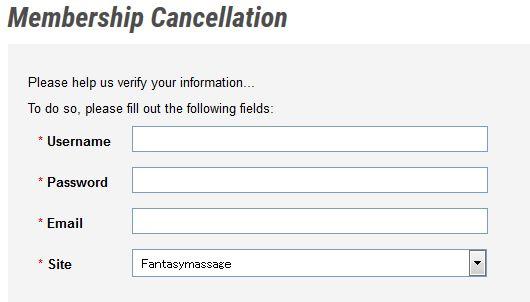 Membership Cancellation