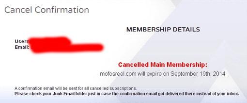 MofosReel退会処理完了