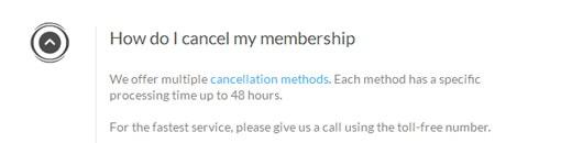 cancellation methods