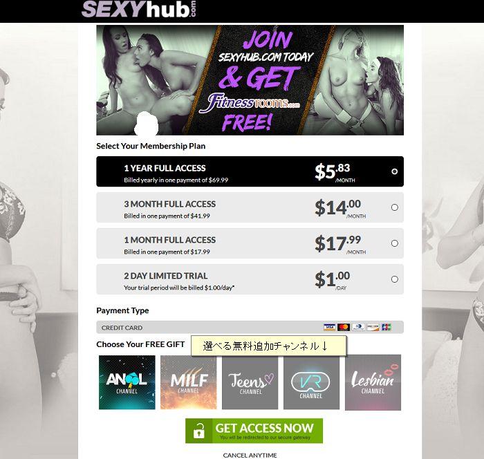 Sexy Hubアカウント作成