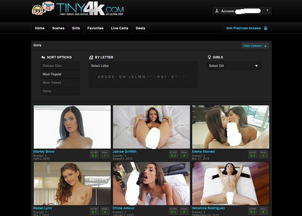 Tiny4K人気女優