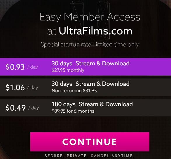 UltraFilmsアカウント作成